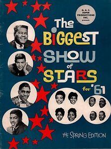FATS-DOMINO-1961-BIGGEST-SHOW-OF-STARS-SPRING-CONCERT-PROGRAM-BOOK-EX-2-NMT