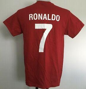 PORTUGAL RONALDO NUMBER 7 S//S RETRO STYLE TEE SHIRT SIZE MEN/'S XXL BRAND NEW