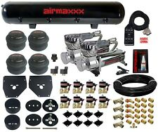 C10 Air Ride Suspension Kit Chevy 1963-72 3/8 Valves Blk 7 Switch Bags Tank 580