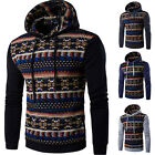 New Men's Winter Slim Hoodie Warm Hooded Casual Sweatshirt Coat Jacket Outwear &