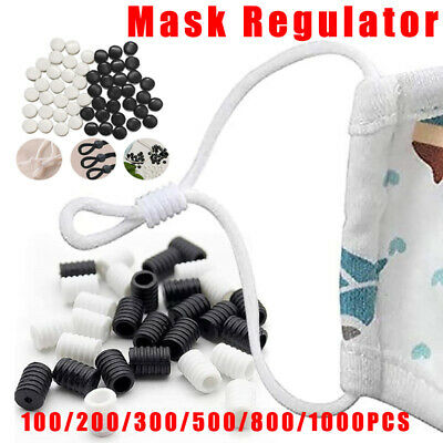 Face Cover Cord Locks Toggles for Drawstrings Elastic Adjuster Non Slip Stopper