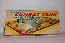 1950's TPS Windup Combat Tank on Battle Front, Nice, Boxed
