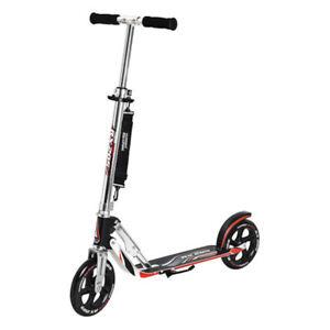 Hudora-Roller-Big-Wheel-RX-205-Scooter-schwarz-silber-rot