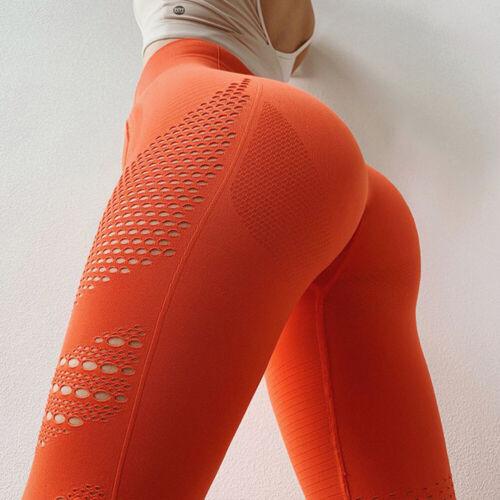 Women Seamless Yoga Leggings Push Up GYM Workout Sports Pants Fitness Trousers