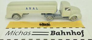 Aral-Tracteurs-et-Remorques-Gris-Camion-Citerne-Magirus-imu-Replique-Serie-1-87