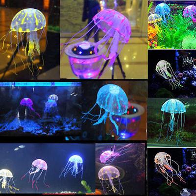 Nice Jellyfish Aquarium Decoration Artificial Glowing Effect Fish Tank Ornament