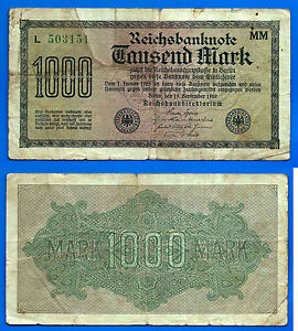 P74-B 1922 LARGER NOTE GERMANY-  500 MARK 7 DIGITS TYPE