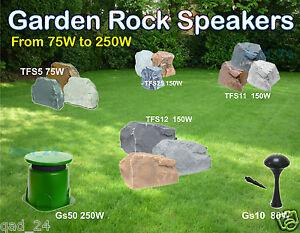 Outdoor Garden Speakers Rock Effect Waterproof Disco Party