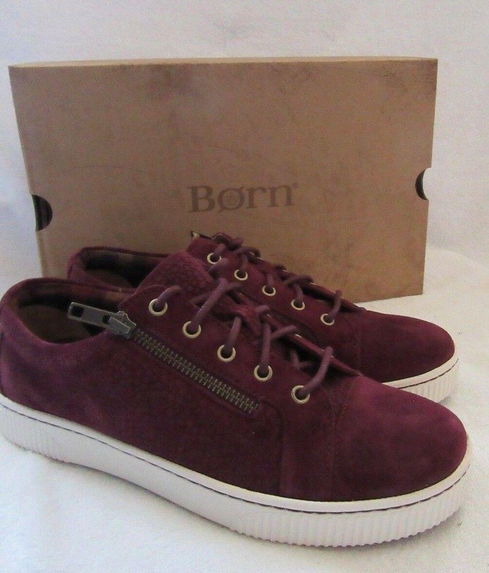 Nuova lista BORN D88019 Tamara viola Suede Leather Leather Leather Lace scarpe da ginnastica scarpe US 8.5 M EUR 40 NWB  spedizione veloce in tutto il mondo