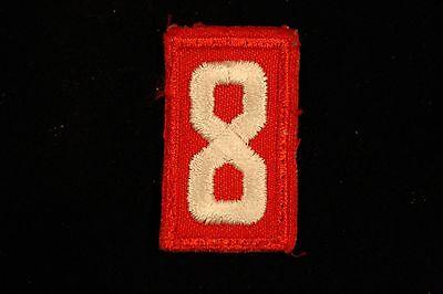 Cub Scout Den Number Patch Number 8