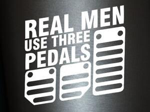 1-x-2-Plott-Aufkleber-Real-Men-Use-Three-Pedals-Sticker-Shocker-Tuning-Fun-Gag
