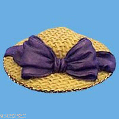 STRAW WITH LARGE PURPLE BOW Butlers dollhouses miniature HAT craft projects