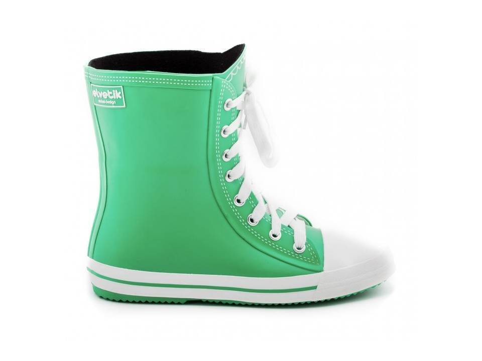 Ladies Wellington Rain Welly Natural Green Natural Rubber  Offer Last Pair