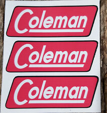 2 TWO NEW COLEMAN SUNSHINE OF THE NIGHT STICKER DECAL LANTERN STOVE SMALL REPL