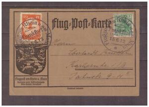 Deutsches Reich 1900-1918 Flugpostkarte Rhein/Main Frankfurt 15.6.1912- selten - Granschütz, Deutschland - Deutsches Reich 1900-1918 Flugpostkarte Rhein/Main Frankfurt 15.6.1912- selten - Granschütz, Deutschland