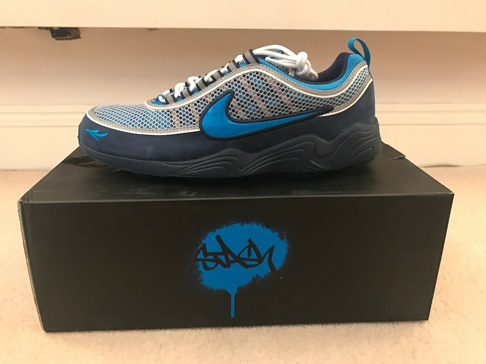 2017 NIKE AIR ZOOM SPIRIDON - STASH - BLUE / CYAN  - / US 11.5