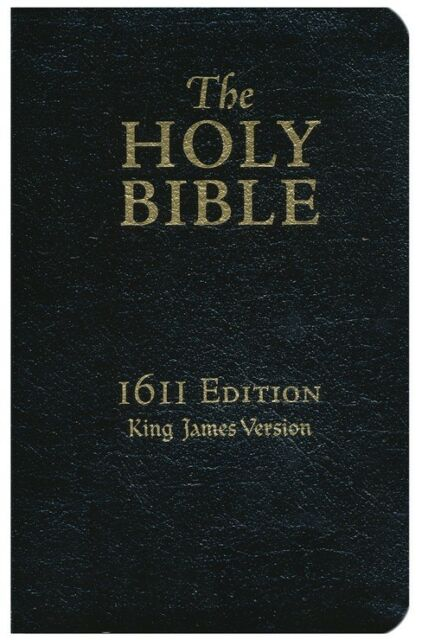 KJV 1611 Bible 400th Anniversary Edition Genuine Leather, Black
