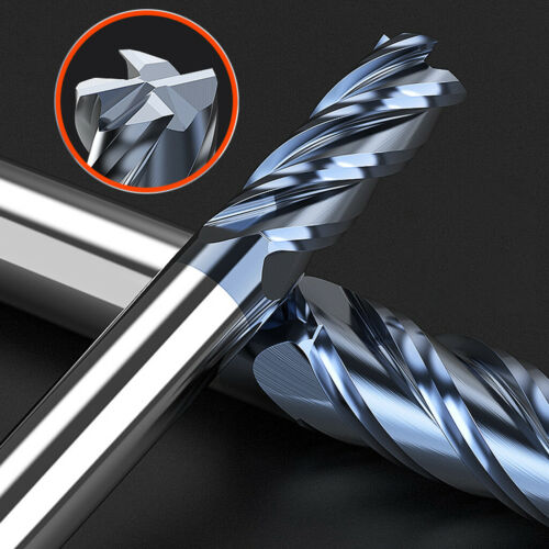 6-10X 1-16mm Solid Carbide End Mill 4 Flute TiAlN Milling Cutter Slot Drill Bit