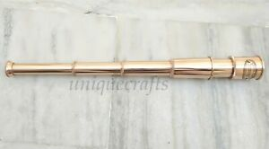 Maritime Antiques Soft And Light Generous Vintage Solid Brass Telescope ~vintage Royal Navy Spyglass ~collectible Item