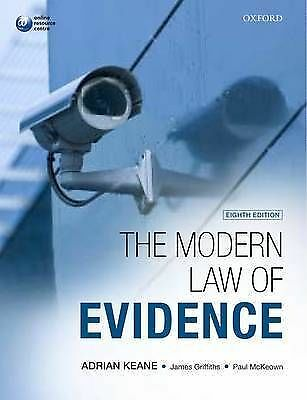 1 of 1 - Keane, Adrian, The Modern Law of Evidence, Very Good Book
