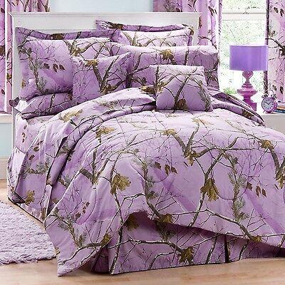 Girls Realtree® AP Lavender Purple Camo Bedding Comforter Set & Sheets ~ 4 Sizes