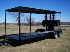 New Bbq Pit Smoker Charcoal Grill Concession Trailer