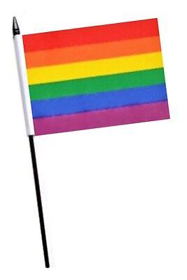 Rainbow Gay Pride Small Hand Waving Flag