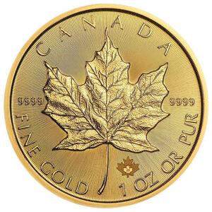 1 oz Gold - Kanada - Maple Leaf - 2020 - prägefrisch - 15 Euro Rabatt ab 3 Stück