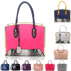 Ladies-Fashion-Patent-BowTote-Handbag-Women-039-s-Handbags-Quality-Celebrity-Bags-84