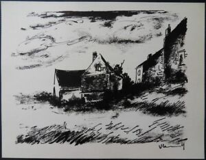 Vlaminck-the-Potiniere-in-Rueil-Lithography-Original-Signed-1958-2000ex