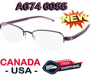 ADIDAS-A674-40-6055-PLUM-VIOLET-HALFRIME-OPTICAL-FRAME-EYEWEAR-EYEGLASSES-52-18