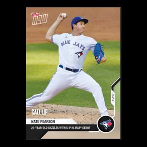 Nate Pearson - 2020 MLB TOPPS NOW Card 29 - Print Run: 1982
