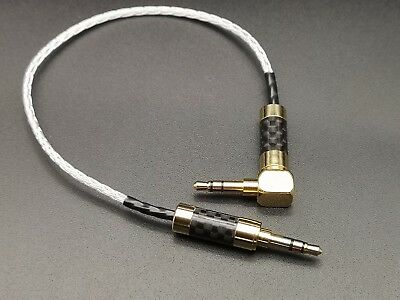 HIFI OCC Copper Silver Plated 3.5mm to 3.5mm aux audio cable gold rhodium