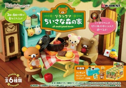 "Re-ment San-X Rilakkuma miniature /""A small Forest House/"" 6box Complete set"