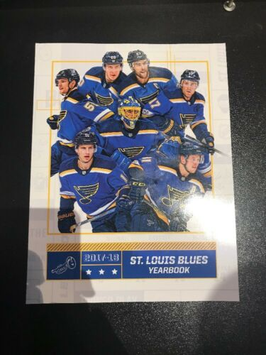 2017-2018 St Louis Blues Yearbook Official