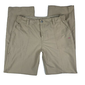 Pacific-Trail-Women-Large-Outdoor-Activewear-Pants-Straight-Leg-Pockets-Beige