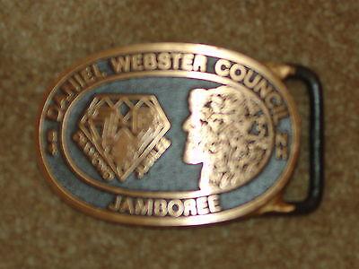Max Silber belt buckle - 1984 Daniel Webster Council Jamboree