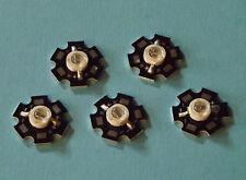5 x 5W 740nm IR POWER  LED on HEATSINK Kühlkörper Emitter Infrarot Infrared 5mm