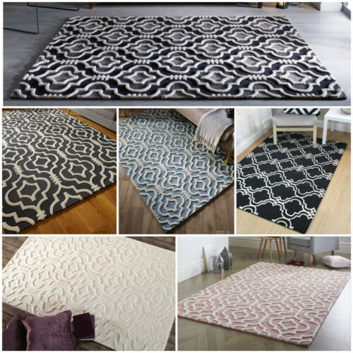MOORISH MOROCCAN HAND CARVED HIGH QUALITY SOFT 100/% WOOL THICK 3D LUXURY RUG