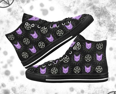Canvas shoes sneakers Pastel Goth shoes Kawaii shoes Halloween shoes