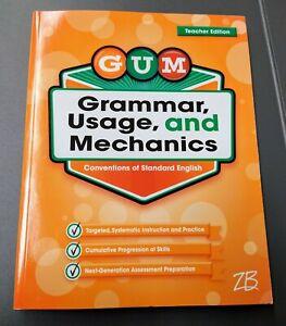GUM: Grammar, Usage, & Mechanics 2nd Grade 2 TEACHER EDITION Homeschool book