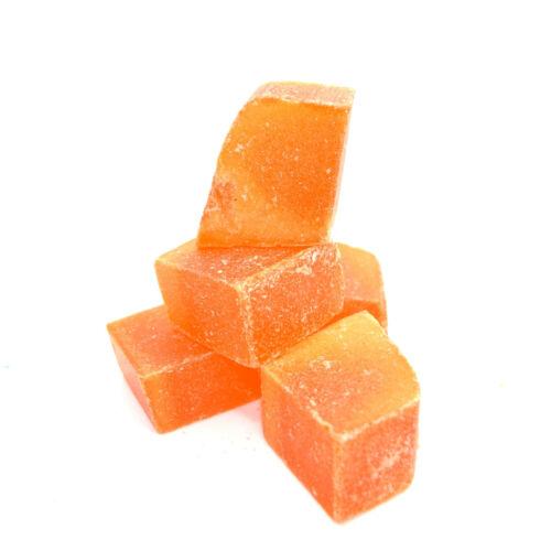 De alta calidad de color naranja Pre Cera de parafina Cubos Para Vela hacer ♪ BT-08 ♪