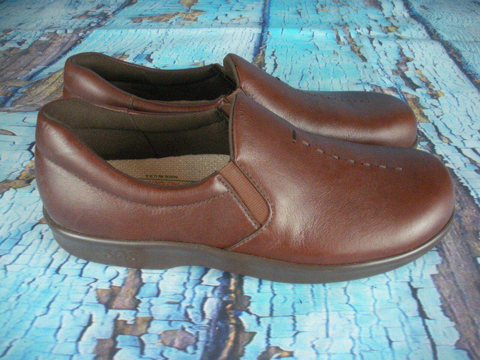 * nouveau * sas tripad tripad sas confort viva teck feuillet de cuir brun sur mocassins gpm  's 7 a67648