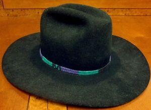 Bailey Jr. Size 6 3 4 Black Tucson 2X 4 in Longhorn Cowboy Hat  43a095ca477