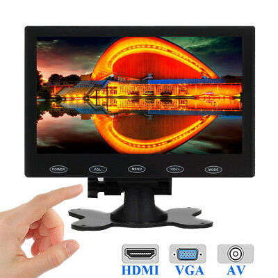 "Mini 7/"" LCD CCTV Monitor PC Screen AV//RCA//VGA//HDMI 1080p for DSLR Raspberry Pi 3"