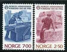 NORWAY 1986 NATL FED.CRAFTSMEN CENT/CARPENTER/STONE CUTTER/WORKS/WOOD  MNH