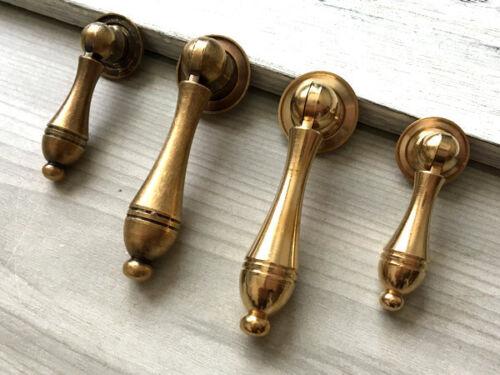 Brass Drop Drawer Pull Pendant Cabinet Knob Dresser Knobs Pull Antique Bronze