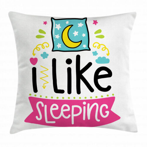 Colorful Quote Throw Pillow Cases Cushion Covers Ambesonne Home Decor 8 Sizes