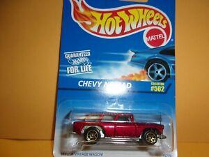 Hot Wheels Maroon Chevy Nomad Wagon #502