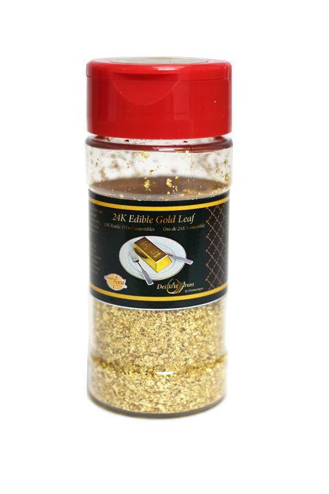 24K Edible or Leaf Crumbs, Shaker, 1g